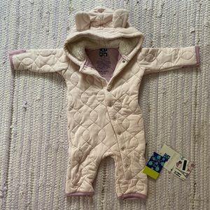 NWT Quilted Lavender Hoodie Footless suit